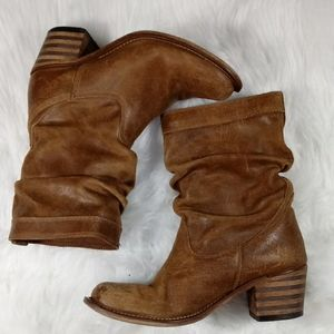 Aldo Women's Leather Tan Western Style Boots 7.5